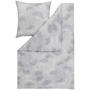 Estella Bettwäsche Herbst/Winter 2019 , Platin , Textil , Floral , 135 cm , Textiles Vertrauen - Oeko-Tex® , bügelfrei, pflegeleicht, hautfreundlich, schadstoffgeprüft , Heimtextilien, Bettwäsche, Bettwäsche