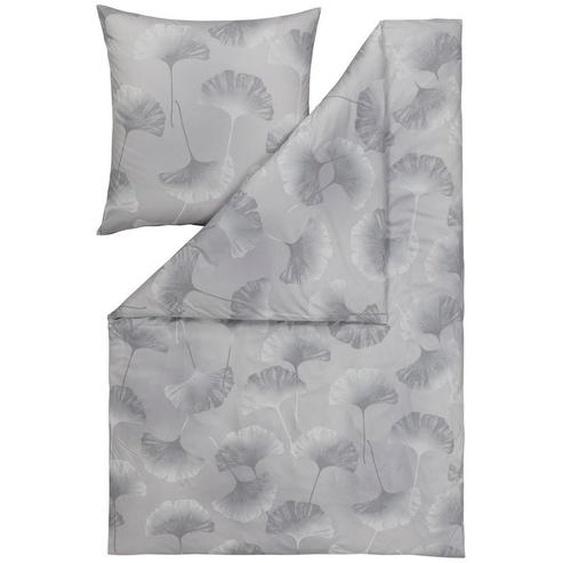 Estella Bettwäsche Interlock-Jersey Grau 135/200 cm , Textil , Floral , 135x200 cm