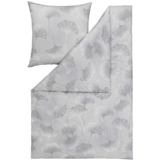 Estella Bettwäsche Interlock-Jersey Grau , Textil , Floral , 135x200 cm