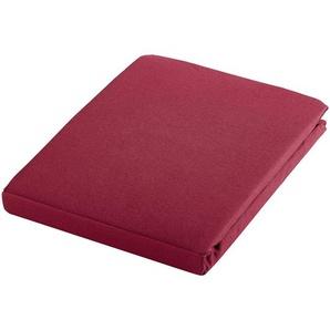 Estella: Spannbetttuch, Rot, Brombeere, B/H 150 200