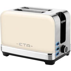 eta Toaster STORIO ETA916690040, 2 kurze Schlitze, 980 W, 7 Bräunungsstufen Einheitsgröße silberfarben SOFORT LIEFERBARE Haushaltsgeräte