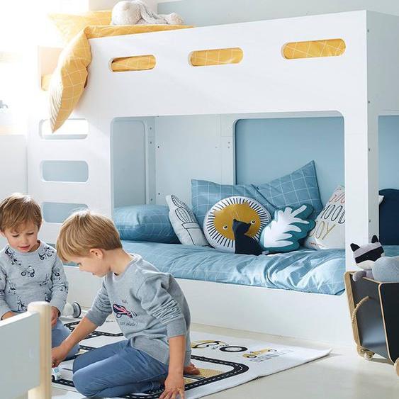 Etagenbett für Kinderzimmer Fuji weiß