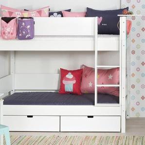 Etagenbett Kids Town, weiß deckend, 90x200 cm