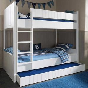 Etagenbett mit Bettschublade mit Bettschubkasten
