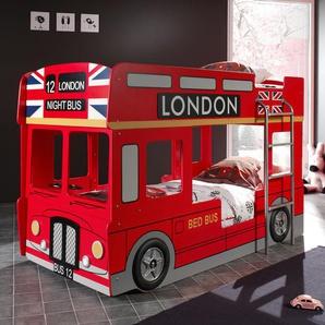 Auto-Etagenbett in Rot als London Doppeldecker - Paddington