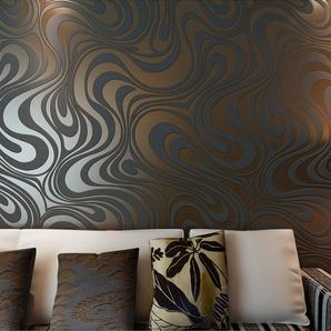 Europa HANMERO®moderne Vliestapete Curve Dual Version Schaum Sonne Gold  Umweltfreundlichkeit Mustertapete 8.4m