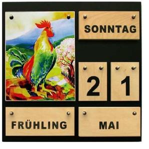 Ewiger Kalender aus Holz Vier Jahreszeiten Dauerkalender Demenzkranke