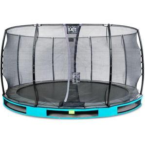 EXIT Elegant Inground-Trampolin ø427cm mit Economy Sicherheitsnetz - blau
