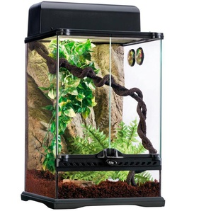 Exo Terra Terrarium Rainforest, in versch. Größen B/H/T: 30 cm x 45 schwarz Terrarien Terraristik Tierbedarf