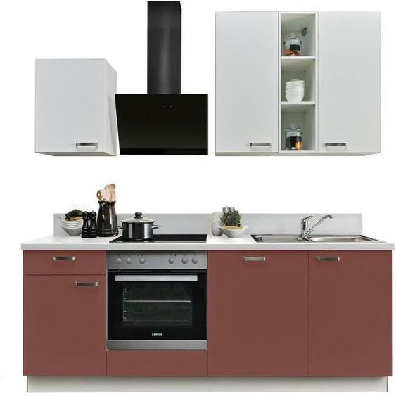 Express Küchen Küchenzeile »Bari«, ohne E-Geräte, mit Soft-Close-Funktion und Vollauszug, vormontiert, Breite 220 cm