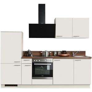 Express Küchen Küchenzeile »Scafa«, ohne E-Geräte, vormontiert und mit Soft-Close-Funktion, Breite 260 cm