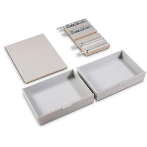 Express Schubladen, Grau, Kunststoff 75 cm