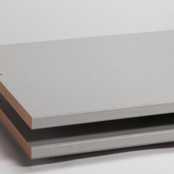 Express Solutions Einlegeboden silbergrau, 100x57x2 cm grau Zubehör für Kleiderschränke Möbel Einlegeböden