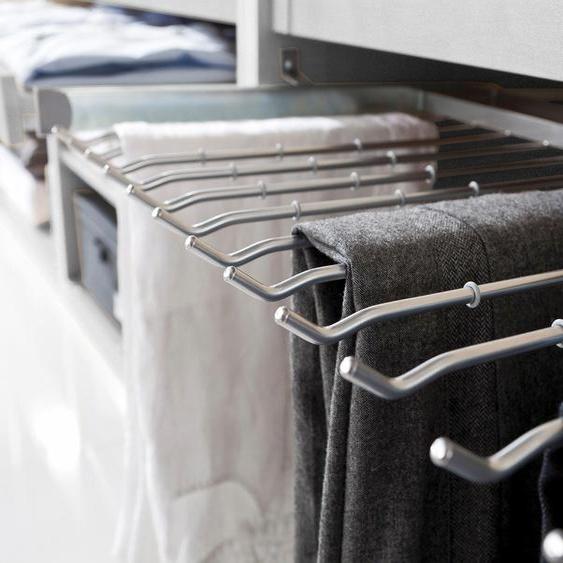 Express Solutions Hosenhalter 100x50 cm grau Zubehör für Kleiderschränke Möbel