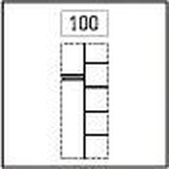 Express Solutions Inneneinteilung, Inneneinteilung 100x236 cm grau Zubehör für Kleiderschränke Möbel Schrankinneneinteiler