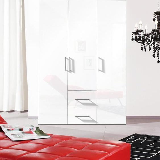 Express Solutions Kleiderschrank B/H: 150 cm x 216 cm, 3 weiß Drehtürenschränke Kleiderschränke