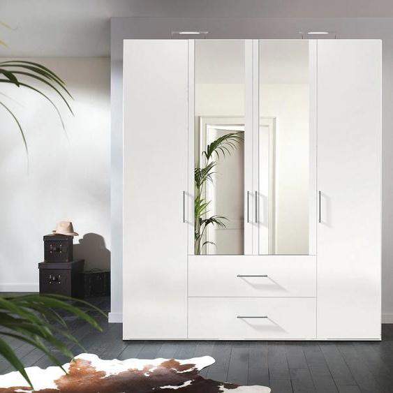 Express Solutions Kleiderschrank B/H/T: 200 cm x 216 58 cm, 4 weiß Drehtürenschränke Kleiderschränke