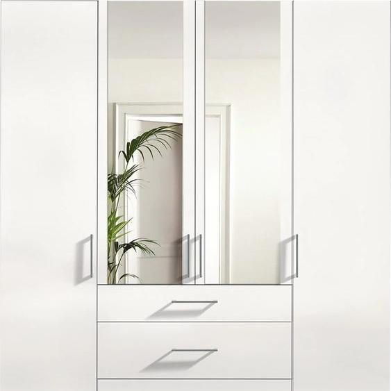 Express Solutions Kleiderschrank 200 x 236 58 (B H T) cm, 4-türig weiß Drehtürenschränke Kleiderschränke Schränke