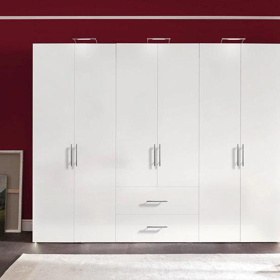 Express Solutions Kleiderschrank 300 x 216 58 (B H T) cm, 6-türig weiß Drehtürenschränke Kleiderschränke Schränke