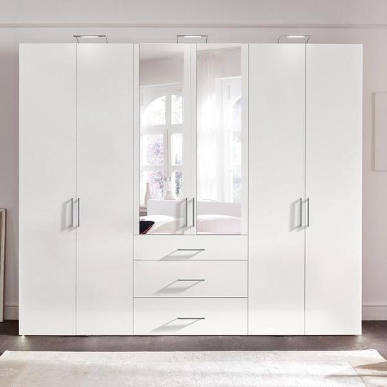 Express Solutions Kleiderschrank B/H/T: 300 cm x 236 58 cm, 6 weiß Drehtürenschränke Kleiderschränke