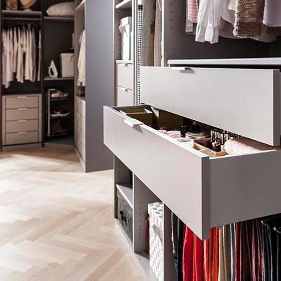 Express Solutions Schubkasteneinsatz 100x45x29 cm grau Zubehör für Kleiderschränke Möbel Schubladen