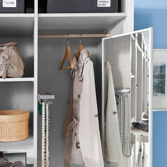 Express Solutions Spiegel, Spiegelauszug Einheitsgröße silberfarben Zubehör für Kleiderschränke Möbel Spiegel