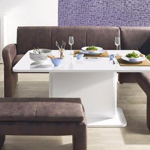 exxpo - sofa fashion Eckbank Cortado, Frei im Raum stellbar B/H/T: 157 cm x 89 244 cm, Luxus-Microfaser, langer Schenkel links braun Sitzbänke Nachhaltige Möbel