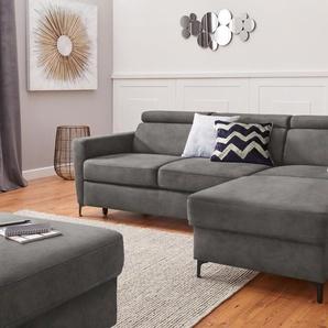 exxpo - sofa fashion Ecksofa B/H/T: 245 cm x 76 164 cm, Vintage, Recamiere rechts, mit Bettfunktion-mit Bettkasten grau Sofas Couches Möbel sofort lieferbar