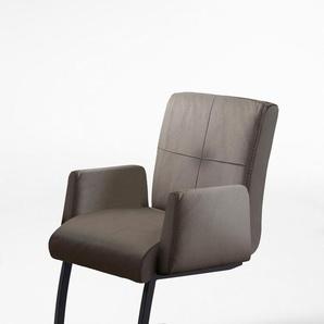 exxpo - sofa fashion Freischwinger, grau, Material Massivholz