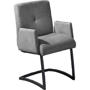 Freischwinger, grau, zeitloses Design, , , FSC®-zertifiziert, exxpo - sofa fashion