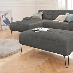 exxpo - sofa fashion Hocker 0, Vintage grau Polsterhocker Sessel und Sofas Couches