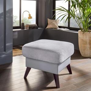 exxpo - sofa fashion Hocker 0, Webvelours Premium, grau Polsterhocker Sessel und Sofas Couches
