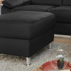 Hocker, schwarz, Recamiere links, FSC®-zertifiziert, exxpo - sofa fashion