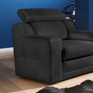 exxpo - sofa fashion Sessel, mit Kopf- bzw. Rückenteilverstellung Kunstleder SOFTLUX®, B/H/T: 95 cm x 92 98 schwarz Sessel