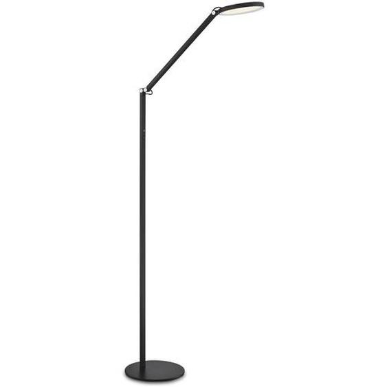 FABAS LED-Stehlampe, Schwarz, Alu, Eisen, Stahl & Metall