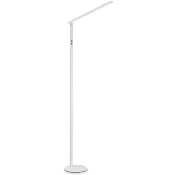 FABAS LED-Stehlampe, Weiß, Alu, Eisen, Stahl & Metall