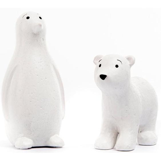 Fabriano Tierfigur »Enno & Finn« (Set, 2 Stück, 1x Eisbär und 1x Pinguin), Höhe 12,5 und 18,5 cm