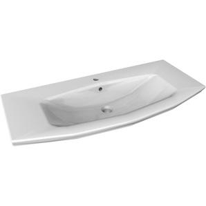 FACKELMANN Einbauwaschbecken »Lino«, Keramik, Breite 110 cm