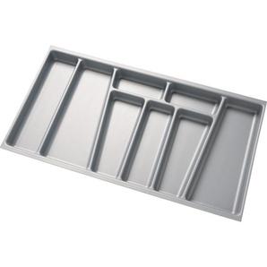 Fackelmann Schubkasteneinsatz Silber 70 cm x 37 cm x 50 cm