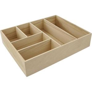 Fackelmann Schubladen-Box Buche 26 cm x7 cm x 32 cm