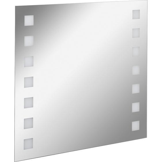 Fackelmann Spiegelelement 80 cm Karo mit Ambientebeleuchtung