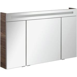 FACKELMANN Spiegelschrank »CL 120 - Ulme-Madera« Breite 120 cm, 3 Türen, doppelseitig verspiegelt