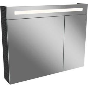 FACKELMANN Spiegelschrank »LN 90 - Dark-Oak« Breite 90 cm, mit 2 Türen doppelseitig verspiegelt