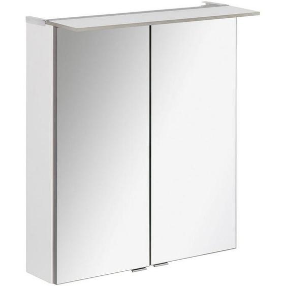 FACKELMANN Spiegelschrank »PE 60 - weiß« Breite 60 cm, 2 Türen, LED-Badspiegelschrank