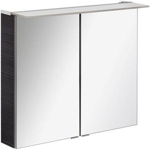 FACKELMANN Spiegelschrank »PE 80 - Dark-Oak« Breite 80 cm, 2 Türen, doppelseitig verspiegelt