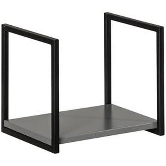 Fackelmann Unterregal New York 33 x 28 x 28 cm grau/schwarz