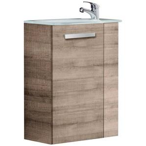FACKELMANN Waschtisch »A-VERO«, Mini-Gäste-WC-Lösung, Breite 45 cm, Tiefe 25 cm (2-tlg.)