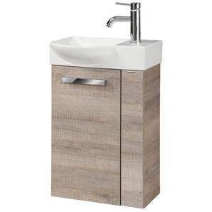 FACKELMANN Waschtisch »A-VERO«, Mini-Gäste-WC-Lösung, Breite 45 cm, Tiefe 32 cm (2-tlg.)