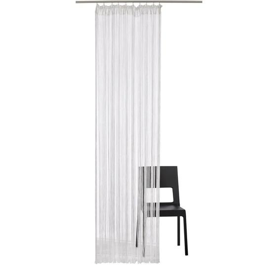 Fadenvorhang, Fao-Uni, my home, Stangendurchzug 1 Stück 3, H/B: 160/95 cm, transparent, weiß Fadenvorhänge Weitere Gardinen Vorhänge Gardine