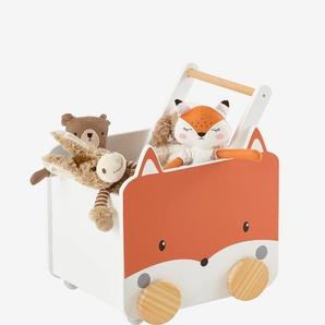 Fahrbare Spielzeugkiste ,,Fuchs weiß